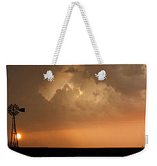 Stormy Sunset And Windmill 09 Weekender Tote Bag by Rob Graham