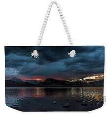 Stormy Sunset From Summit Cove Weekender Tote Bag