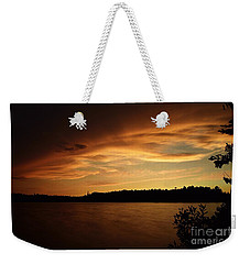 Stormy Sunset On Amoeber Lake Weekender Tote Bag