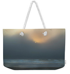 Weekender Tote Bag featuring the photograph Stormy Sunset Oregon Coast by Yulia Kazansky