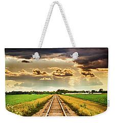 Stormy Tracks Weekender Tote Bag