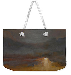 Stormy Waterscape Sunset Seascape Marsh Painting Weekender Tote Bag