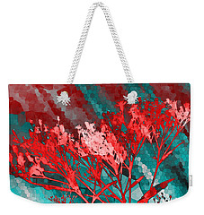 Weekender Tote Bag featuring the digital art Stormy Weather by Shawna Rowe