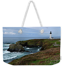 Stormy Yaquina Head Lighthouse Weekender Tote Bag