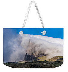 Weekender Tote Bag featuring the photograph Storr In Cloud by Gary Eason