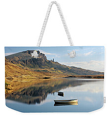 Weekender Tote Bag featuring the photograph Storr Reflection by Grant Glendinning
