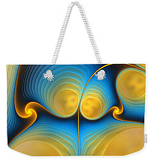 Weekender Tote Bag featuring the digital art Storyline by Anastasiya Malakhova