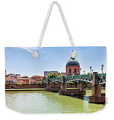 Weekender Tote Bag featuring the photograph St.pierre Bridge In Toulouse by Elena Elisseeva