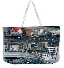 Weekender Tote Bag featuring the photograph Straight Down Skyline by Jennie Breeze