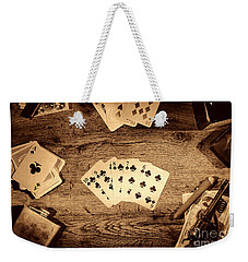 Straight Flush Weekender Tote Bag by American West Legend By Olivier Le Queinec