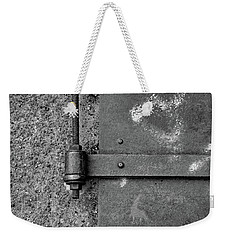 Weekender Tote Bag featuring the photograph Straight Metal by Karol Livote