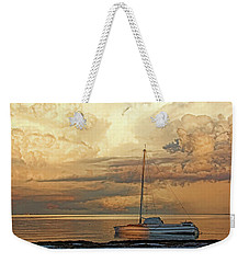 Weekender Tote Bag featuring the photograph Stranded by HH Photography of Florida