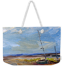 Weekender Tote Bag featuring the painting Stranded by Michael Helfen