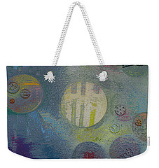 Weekender Tote Bag featuring the painting Strange Universe by Robert Margetts