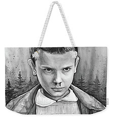 Stranger Things Fan Art Eleven Weekender Tote Bag by Olga Shvartsur