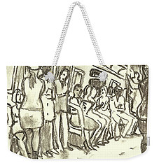 Strap Hangers, Nyc Subway Weekender Tote Bag