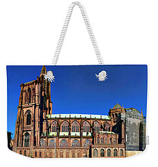 Weekender Tote Bag featuring the photograph Strasbourg Catheral by Alan Toepfer