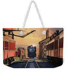 Weekender Tote Bag featuring the photograph Strasburg Railroad Station by Lori Deiter