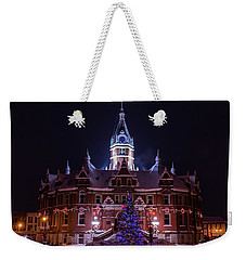 Stratford City Hall Christmas Weekender Tote Bag