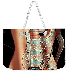 Stratocaster Plus In Shell Pink Weekender Tote Bag