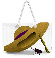 Straw Hat And Horn Beetle Weekender Tote Bag