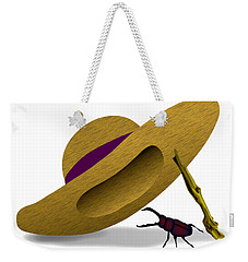 Straw Hat And Stag Beetle Weekender Tote Bag