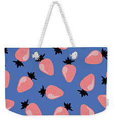Strawberries Weekender Tote Bag by Elizabeth Tuck