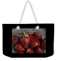 Strawberries Weekender Tote Bag by Marija Djedovic