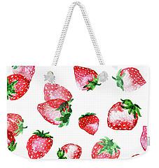 Strawberries Weekender Tote Bag by Varpu Kronholm