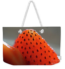 Strawberry Close Up Weekender Tote Bag