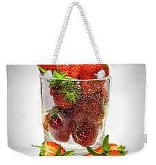 Strawberry Dessert Weekender Tote Bag