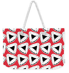 Weekender Tote Bag featuring the mixed media Strawberry Hamentashen- Art By Linda Woods by Linda Woods