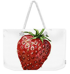 Weekender Tote Bag featuring the painting Strawberry by Heidi Kriel