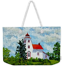 Strawberry Island Lighthouse, Manitoulin Island Weekender Tote Bag