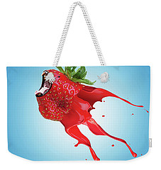 Weekender Tote Bag featuring the photograph Strawberry by Juli Scalzi