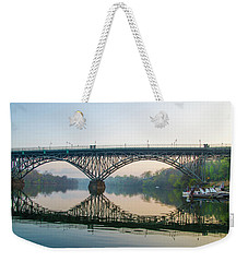 Weekender Tote Bag featuring the photograph Strawberry Mansion Bridge In Spring by Bill Cannon