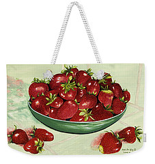 Strawberry Memories Weekender Tote Bag
