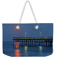 Strawberry Moon Over Sandbridge Weekender Tote Bag