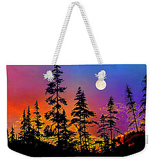 Weekender Tote Bag featuring the painting Strawberry Moon Sunset by Hanne Lore Koehler