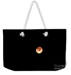 Weekender Tote Bag featuring the photograph Strawberry Moon by Victor K