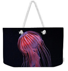 Weekender Tote Bag featuring the photograph Strawberry Pink Jellyfish - Extra Tall by Debi Dalio