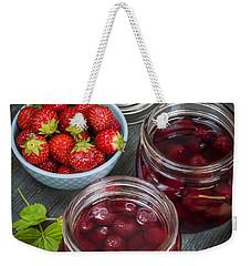 Strawberry Preserve Weekender Tote Bag by Elena Elisseeva