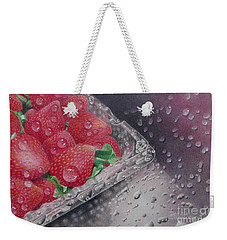 Strawberry Splash Weekender Tote Bag