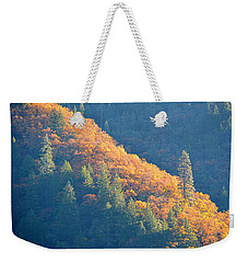 Weekender Tote Bag featuring the photograph Streak Of Gold by AJ Schibig