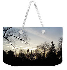Weekender Tote Bag featuring the photograph Streaks Of Clouds In The Dawn Sky by Kent Lorentzen