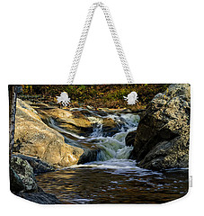 Weekender Tote Bag featuring the photograph Stream In Autumn No.17 by Mark Myhaver