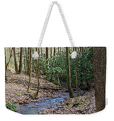 Stream In The Winter Woods Weekender Tote Bag