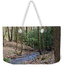Stream In The Winter Woods Weekender Tote Bag