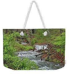 Stream In The Woods Weekender Tote Bag