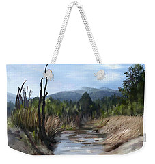 Weekender Tote Bag featuring the painting Stream by Ivana Westin